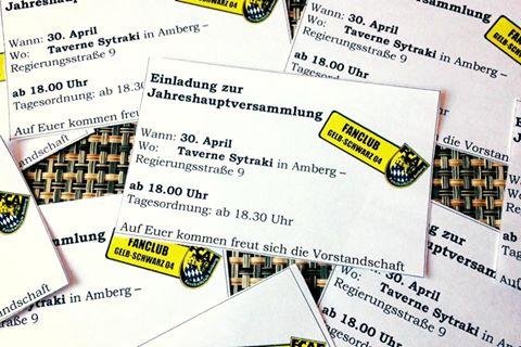 Jahreshauptversammlung des Fanclub Gelb Schwarz 04.